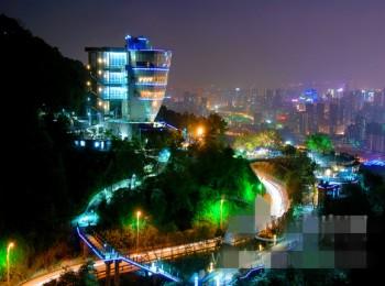 重庆南山一棵树夜景游