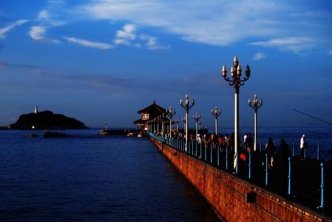 山东青岛栈桥
